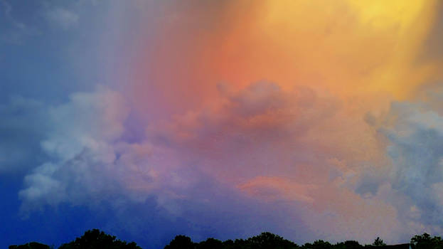 Colorful Sunset Storm. by Ally White