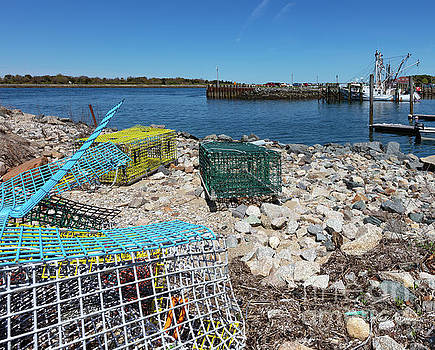 Michelle Constantine - Colorful Traps by the Cape Cod Canal