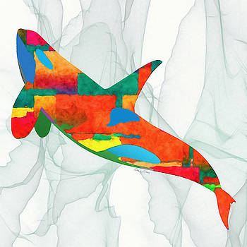 Colorful Whale by Stacey Chiew