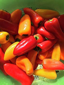 Colorful Yummy Peppers by Kathy Clark