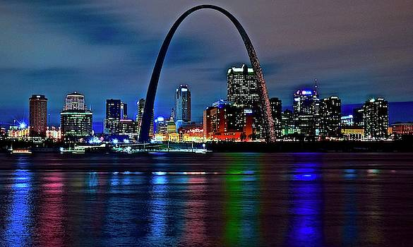 Frozen in Time Fine Art Photography - Colors of St Louis at Night