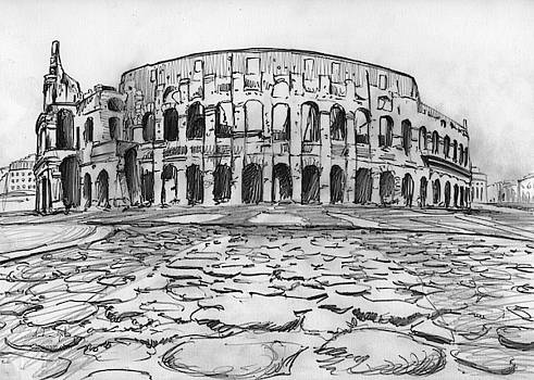 Andrea Gatti - Colosseum drawing