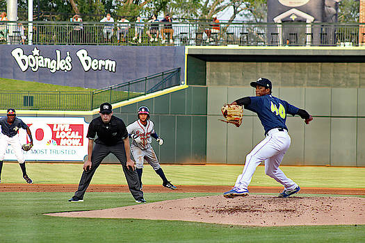 Columbia Fireflies Pitcher Willy Taveras 10 by Joseph C Hinson