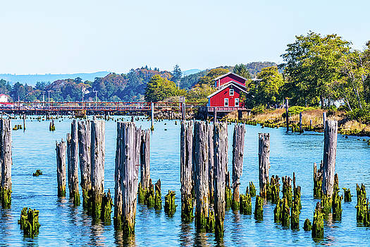 Columbia River in Astoria, Oregon by Debbie Ann Powell