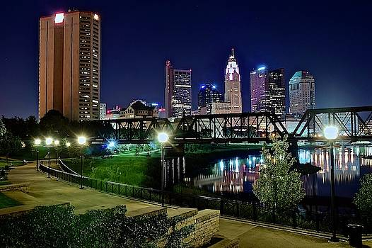 Frozen in Time Fine Art Photography - Columbus Night on the Scioto Riverfront