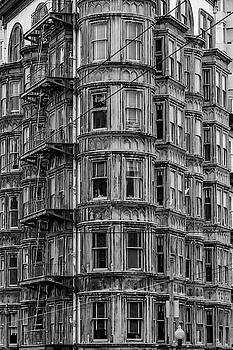 Columbus Tower Black and White by Bill Gallagher