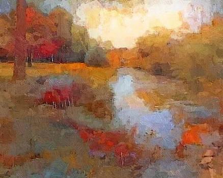 Colvin Run Mill Stream by Don Berg