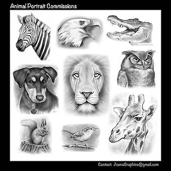 Commissioned Animal Portraits by Greg Joens