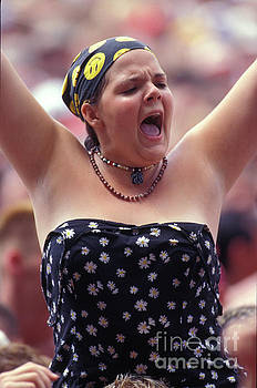 Concert Fan on Shoulder Top at Woodstock 94 by Concert Photos