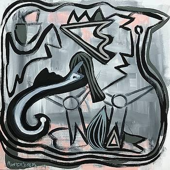 Contemporary Abstract Always Together by Anthony Masterjoseph