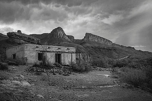 Controbando Movie Set in Big Bend BW by Harriet Feagin