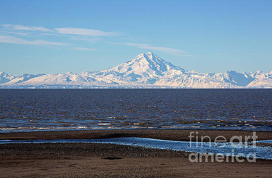 Cook Inlet and the Alaska Range from Ninilchik by Louise Heusinkveld