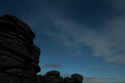 Coombestone Tor Star Trails i by Helen Northcott