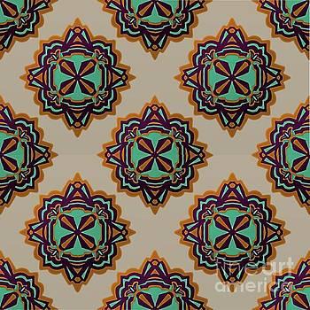 Copper Concho Seamless by Priscilla Wolfe