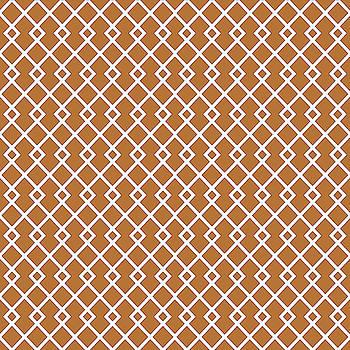 Copper Orange Diamond Pattern by Ross