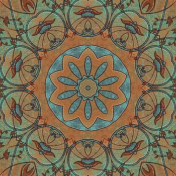 Copper Patina Kaleidoscope by Cindy Boyd