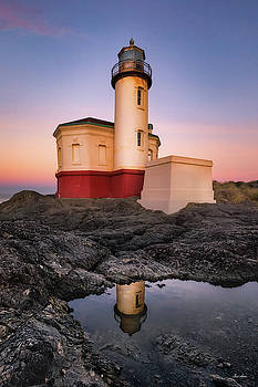 Chris Steele - Coquille Lighthouse Reflection