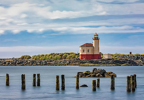 Coquille River Lighthouse by Jerry Fornarotto