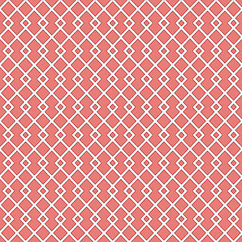 Coral Pink Diamond Pattern by Ross