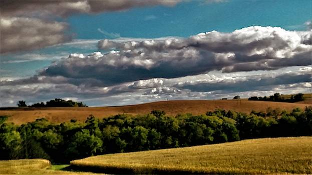 Cornfields and Cloudes by Peggy Leyva Conley