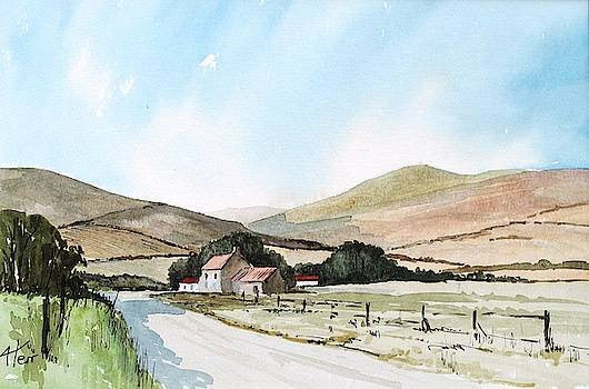 Cornish Country Road by Anne Kerr