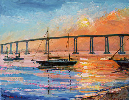 Coronado Bridge at Sundown by Robert Gerdes