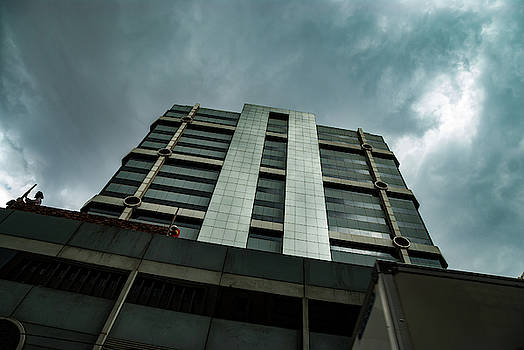 Corporate Building in the Dark by Vladan Radulovic