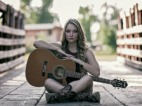 COUNTRY GIRL with GUITAR by Daniel Hagerman