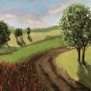Country Road - impressionistic landscape by Linda Apple