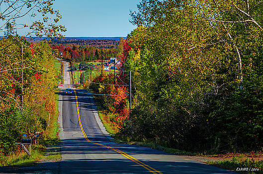 Country Road in Autumn by Ken Morris
