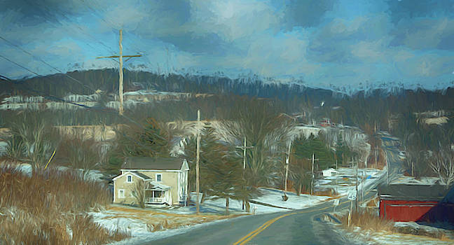 Country Road in Winter by Alan Goldberg