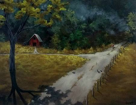 Country Road to Forest  by Danett Britt