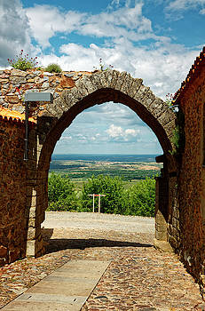 Countryside Through Arch by Sally Weigand