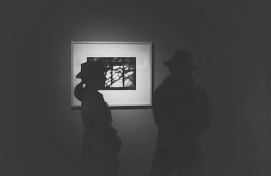 Couple at exhibition by Hyuntae Kim