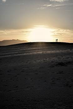 Couple Silhouette at White Sands, New Mexico  by Chance Kafka