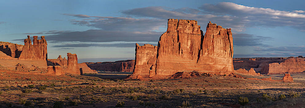 Courthouse Towers-Arches National Park by Mark Langford