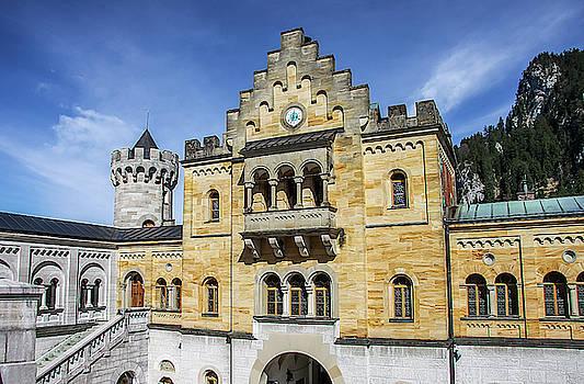 Courtyard, Neuschwanstein Castle by Dawn Richards