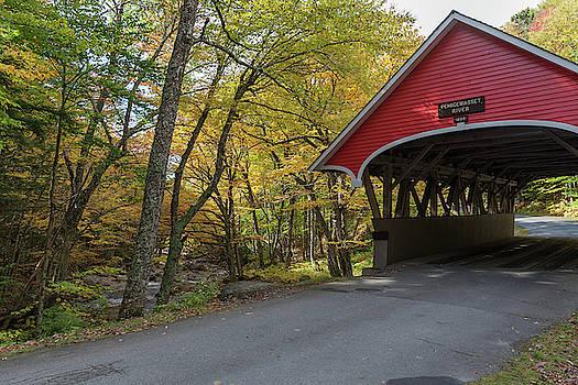 Cliff Wassmann - Covered Bridge in Autumn Splendor