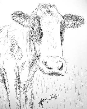 Cow Doodle by Monique Faella