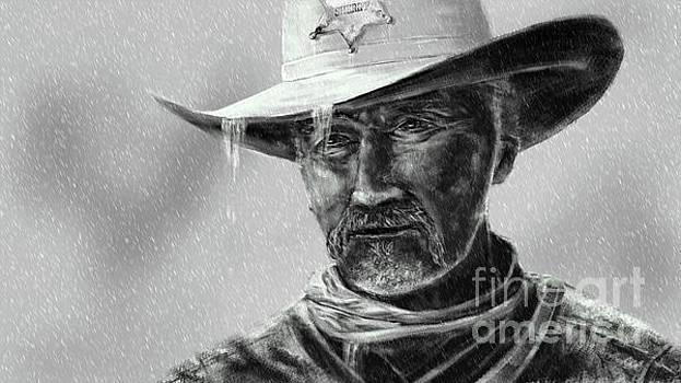 Cowboy Sheriff in Rain by Jan Brons