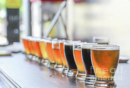 Craft Beer Tasting Flight by Eddie Hernandez