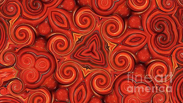 Cranberry Swirl 2 by Angela Stafford