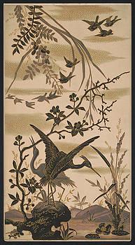 Daniel Hagerman - CRANES and BIRDS at POND 1880