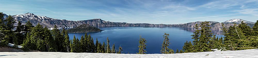 Crater Lake Panorama by Belinda Greb