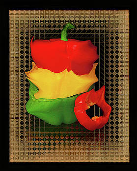 Crazy Colorful Bell Peppers  by Constance Lowery