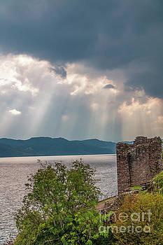 Crepuscular Rays Over Loch Ness by Elizabeth Dow