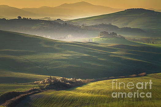 Helga Koehrer-Wagner - Crete Senesi Landscape in Tuscany