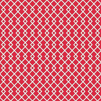 Crimson Red Diamond Pattern by Ross