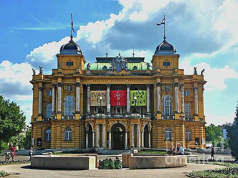 Croatian National Theater HNK Zagreb Croatia by Jasna Dragun