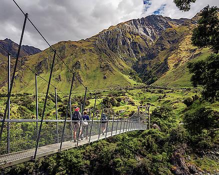Crossing the River in New Zealand by Joan Carroll